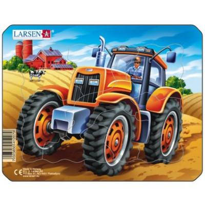 Larsen-Z7-4 Rahmenpuzzle - Traktor