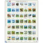 Larsen-ZOO1-DE Rahmenpuzzle - Tier-Puzzle
