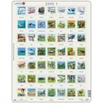 Larsen-ZOO1-FR Rahmenpuzzle - Tierpuzzle I (auf Französisch)
