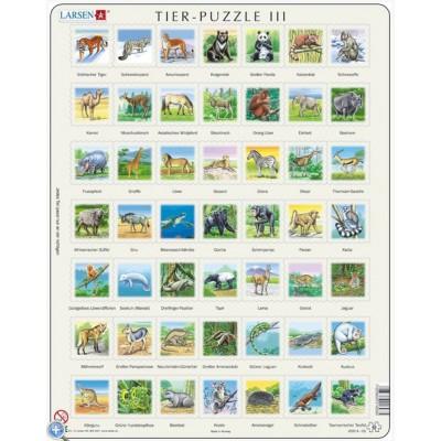 Larsen-ZOO3-DE Rahmenpuzzle - Tier-Puzzle