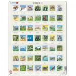 Larsen-ZOO3-FR Rahmenpuzzle - Tiere der Welt (auf Französisch)
