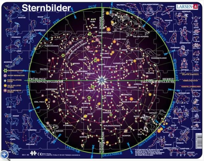 rahmenpuzzle sternbilder 70 teile larsen puzzle