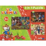 Noris-6060-31428 3 Puzzles - Leo Lausemaus