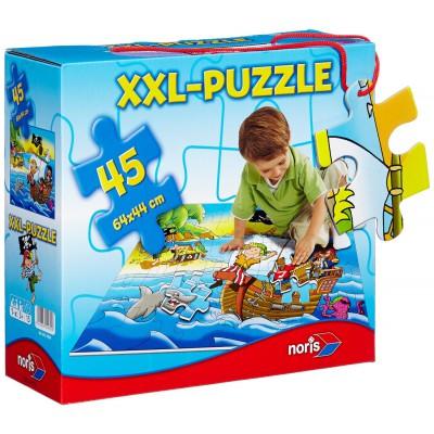 Noris-6060-34960 Riesen-Bodenpuzzle - Piraten