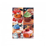 Puzzle  Noris-6060-38018 4 x 200 Teile - Cupcakes