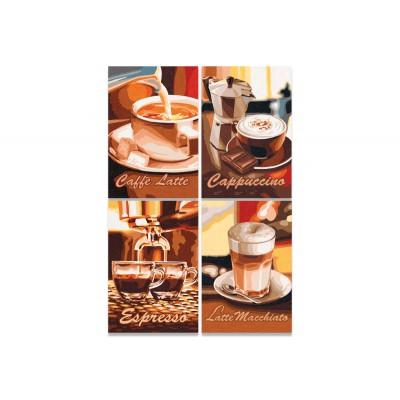 Puzzle Noris-6060-38019 4 x 200 Teile - Kaffeepause