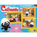 Noris-6060-38022 3 Puzzles - Calimero