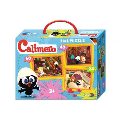 Noris-6060-38023 3 Puzzles - Calimero