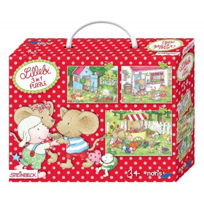 Noris-6060-38034 3 Puzzles - Lillebi
