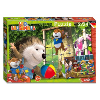 Noris-6060-38052 2 Puzzles - Leo Lausemaus