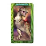 Puzzle  Piatnik-031125 Magnetische Teile - T-Rex Dinosaurier