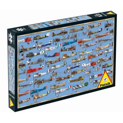 Puzzle Piatnik-5380 Militärflugzeuge