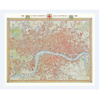 Puzzle Piatnik-5424 Stadtplan London, 1831