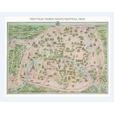 Puzzle Piatnik-5428 Stadtplan Paris, 1910