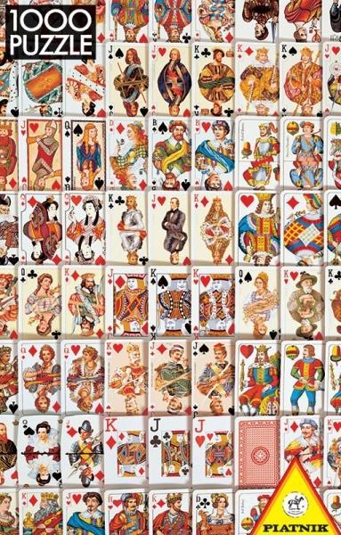 Puzzle Piatnik-5437 Spielkarten