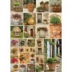 Puzzle  Piatnik-5455 Collage - Blumentöpfe