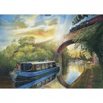 Puzzle  James-Hamilton-Deluxe-4020 Canal Cruise