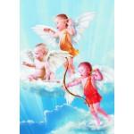 Puzzle  Gold-Puzzle-60072 Drei kleine Engel