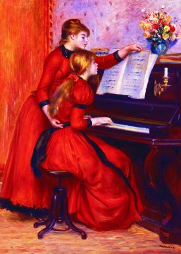 Puzzle Gold-Puzzle-60232 Pierre-Auguste Renoir: Die Klavierstunde
