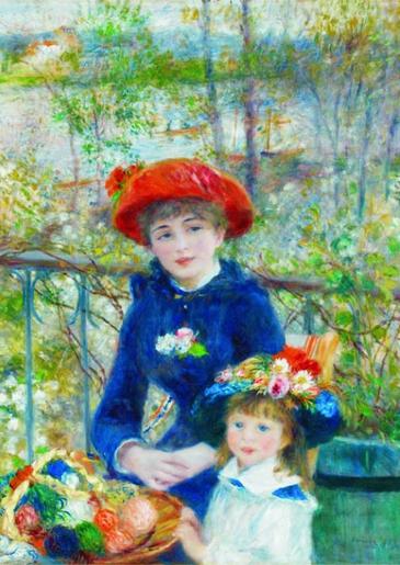 Puzzle Gold-Puzzle-60386 Pierre-Auguste Renoir: Zwei Schwestern auf der Terasse