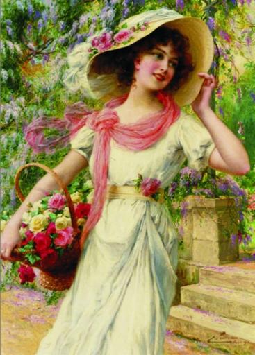 Puzzle Gold-Puzzle-60447 Emile Vernon: Der Blumengarten