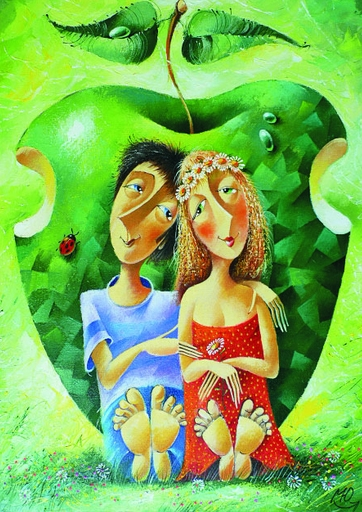 Puzzle Gold-Puzzle-60478 Yuri Macik: Romantik