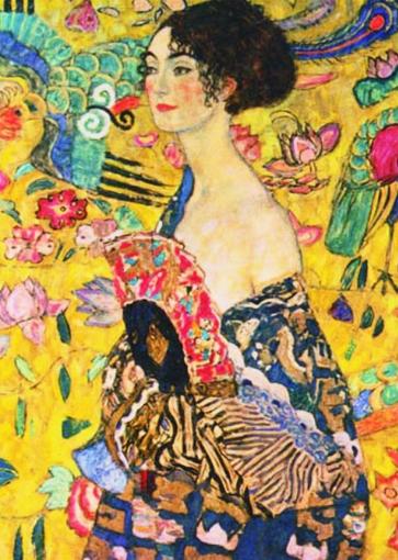 Puzzle Gold-Puzzle-60522 Gustav Klimt: Die Dame mit dem Fächer