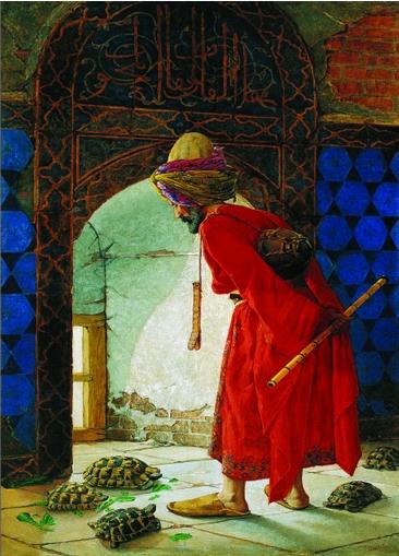 Puzzle Gold-Puzzle-60966 Osman Hamdi Bey: Der Schildkrötenerzieher