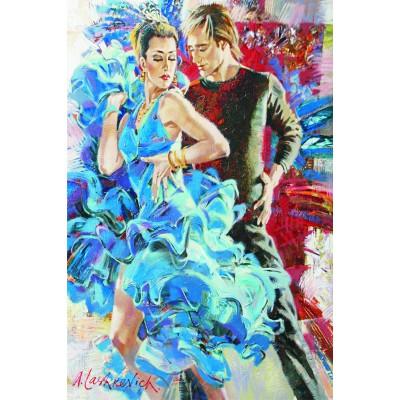 Puzzle Gold-Puzzle-61024 Tanz in Blau