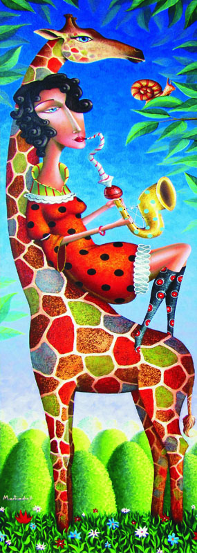 Puzzle Gold-Puzzle-61161 Jazz für eine Giraffe
