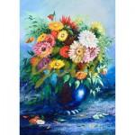 Puzzle  Gold-Puzzle-61482 Flowers in Blue Vase