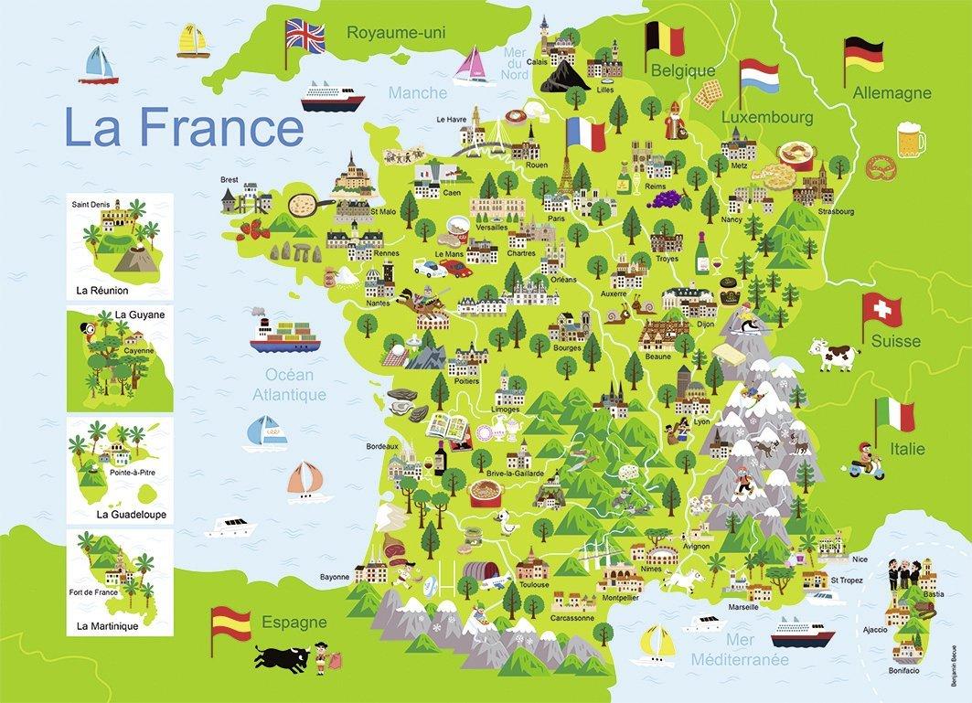 Carte Des  Plus Grandes Villes De France A Completer