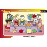 Nathan-86003 Puzzle 15 Teile Rahmenpuzzle - Der Geburtstagskuchen von T'Choupi