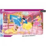 Nathan-86006 Puzzle 15 Teile Rahmenpuzzle - Disney Prinzessinnen: Ballett der Prinzessinnen