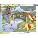 Nathan-86051 Puzzle 35 Teile Rahmenpuzzle - Winnie the Pooh: Entspannen