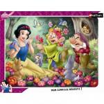 Nathan-86079 Puzzle 35 Teile Rahmenpuzzle - Schneewittchen in den Blumen