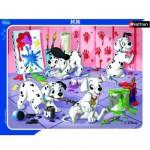 Nathan-86091 Puzzle 35 Teile Rahmenpuzzle - 101 Dalmatiner: Farbspiele