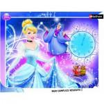 Nathan-86100 Puzzle quadratisch - Disney Prinzessinnen: Aschenputtel und ihre Patin