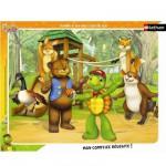 Nathan-86103 Puzzle 35 Teile Rahmenpuzzle - Franklin: Auf dem Spielplatz
