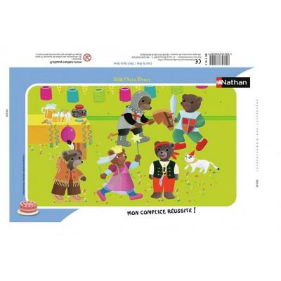 Nathan-86116 Rahmenpuzzle - Kleiner Braunbär