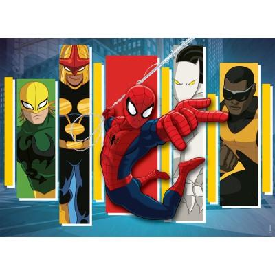 Puzzle Nathan-86520 Spider-Man: Team-Helden
