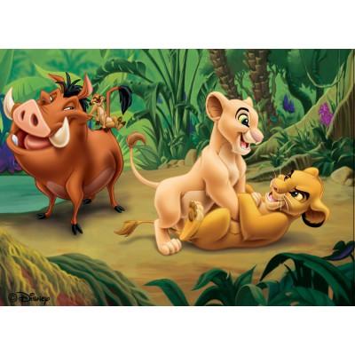 Puzzle Nathan-86558 König der Löwen und seine Freunde