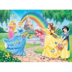 Nathan-86708 Puzzle 100 Teile XXL - Disney Prinzessinnen: Der Garten der Prinzessinnen