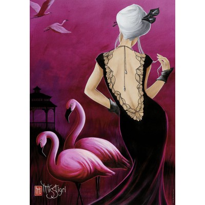 Puzzle Nathan-87592 Misstigri: Pink Flamingo