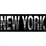 Nathan-87603 Puzzle 1000 Teile Panorama - New York Schriftzug