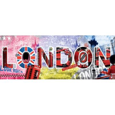 Nathan-87610 Puzzle 1000 Teile Panorama - London Schriftzug