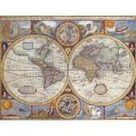 Puzzle  Nathan-87870 Historische Weltkarte
