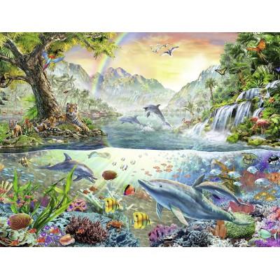 Puzzle Nathan-87876 Das Paradies der Delfine