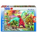 Puzzle  Educa-13179 Dinosaurier