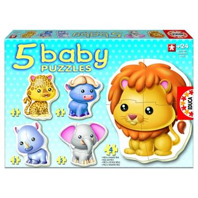 Educa-14197 5 Babypuzzles - Dschungeltiere